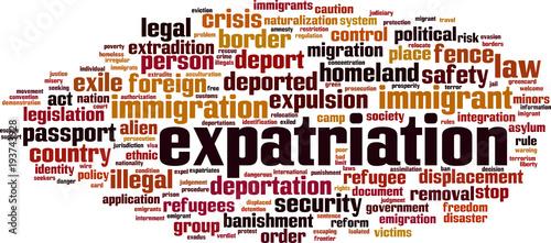 Expatriation word cloud Canvas Print