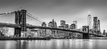 Brooklyn Bridge And New York C...
