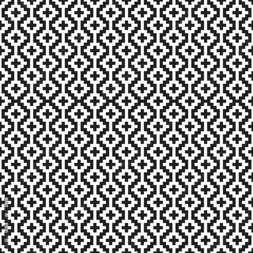 Seamless abstract geometric jacquard quilt square trellis pattern Canvas Print