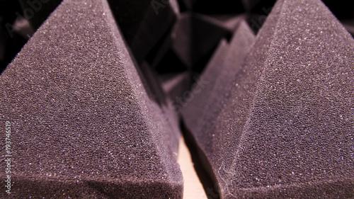Fotografia, Obraz  Close up sound absorbing sponge in music studio