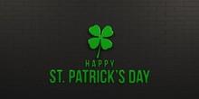 St Patricks Day Black Brick Wa...
