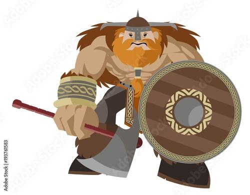 berserker viking warrior Canvas Print