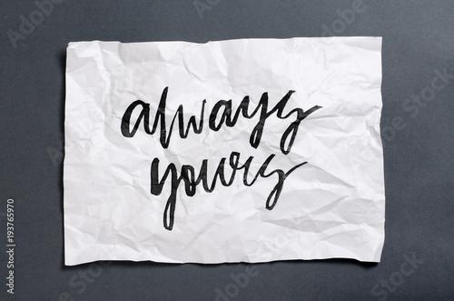 Fotografie, Obraz  Always yours