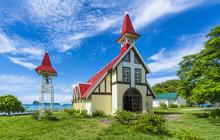 Red Church At Cap Malheureux Village, Mauritius Island