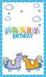Happy birthday card for little boy