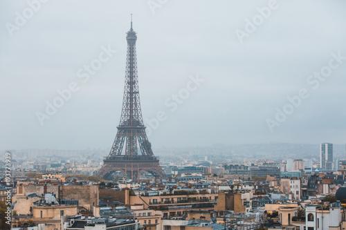 Papiers peints Paris Eiffel tower in Paris - France.