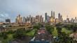 Kuala Lumpur urban and rural cityscape at sunset, Malaysia