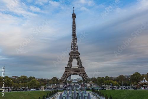 Staande foto Parijs Eiffel tower in Paris - France.