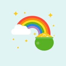 Pot Of Gold At End Of Rainbow ...