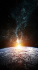 Fototapeta samoprzylepna Planet Earth in space 3D rendering elements of this image furnished by NASA
