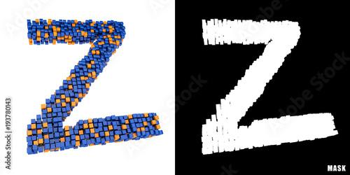 Litera Z 3d Sześciany Kwadraty Klocki Piksele Kaufen Sie Diese