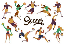 Football Soccer Players Cheerl...