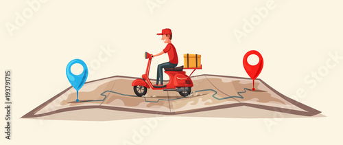 Photo Fast and free delivery by scooter