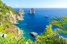 View On Faraglioni Rocks On Ca...