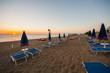Alba sulla spiaggia di Marcelli di Numana, Ancona, Marche, Mare Adriatico, Italia