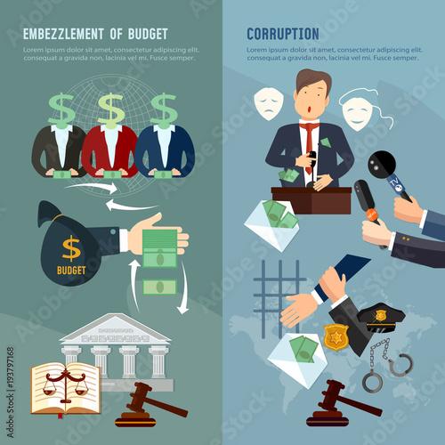 Fotografie, Obraz  Anti-corruption fight stealing money from budget