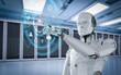 robot with hud display