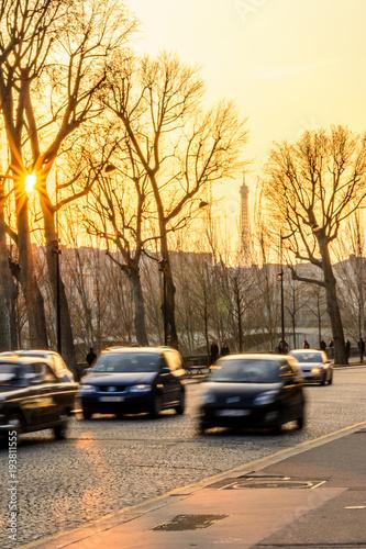 Foto op Aluminium Beijing sunset in paris