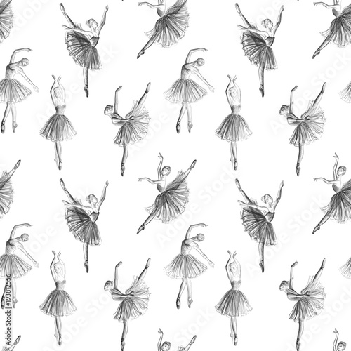 Seamless ballerina Wallpaper Mural