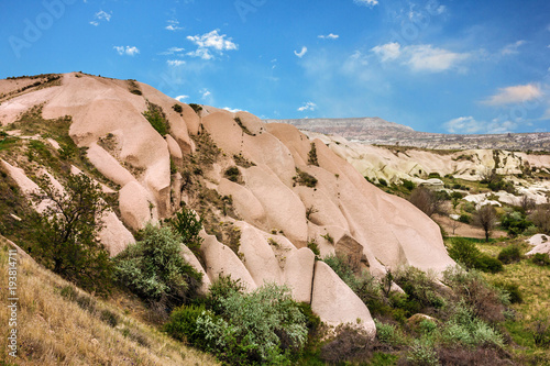 Deurstickers Zalm Goreme, Turkey. Mountain landscape