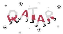 Football World Flag On Funny A...