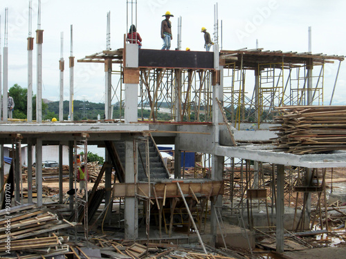 Timber form work used as the cheapest way to build mold for
