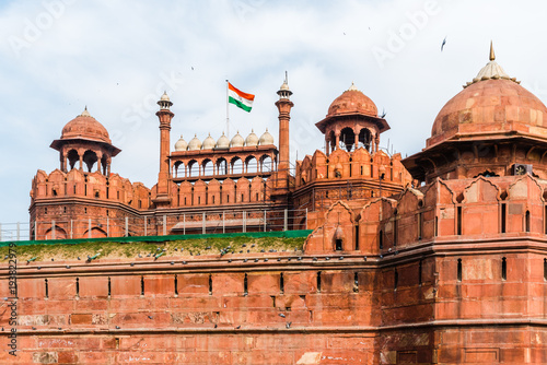Fortification Red fort of Delhi