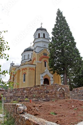 "Tuinposter Bali Kremikovtsi Monastery. The Kremikovtsi Monastery of Saint George, the new church. Kremikovski manastir ""Sveti Georgi"" is Bulgarian Orthodox monastery near Kremikovtsi to the northeast of the Bulgarian"