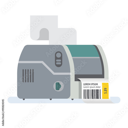bar code printer label printer vector icon illustration buy this