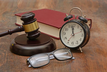 Justice Delay Is Denied Late Concept With Gavel
