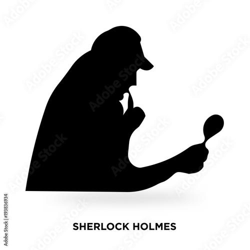 Fotografía  sherlock holmes silhouette