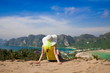 Thailand. Woman in Phi Phi viewpoint