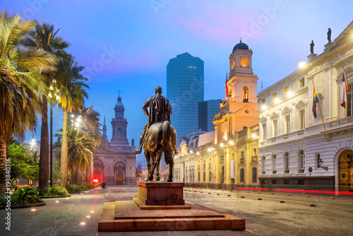 Plaza de las Armas square in Santiago Wallpaper Mural