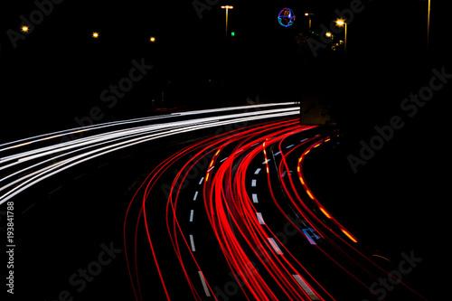 Fényképezés  Verkehr bei Nacht 2