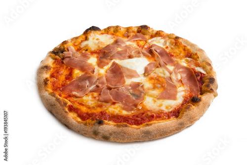 Spoed Foto op Canvas Pizzeria Pizza con prosciutto crudo