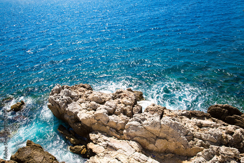 фотография Nice, blue sea,  French Riviera, Cote d'Azur or Coast of Azure.