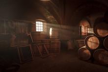 Barrel Making Workshop In Old ...