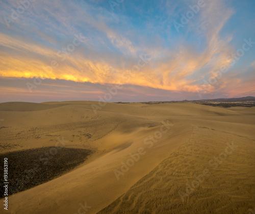 Cadres-photo bureau Desert de sable Desert in Gran Canaria, dunas de maspalomas