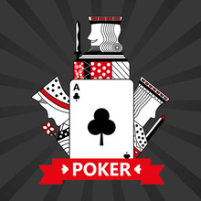Club Ace Jack King And Queen Cards Playing Poker Gray  Background Vector Illustration