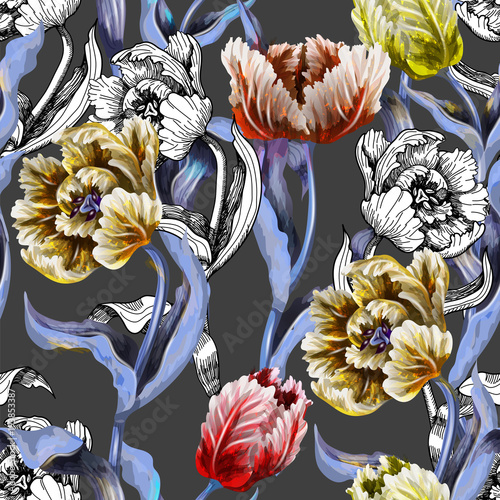seamless-pattern-with-tulips-flowers-drawing