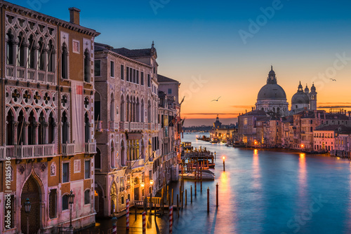 Foto op Aluminium Venice Grand Canal at night, Venice