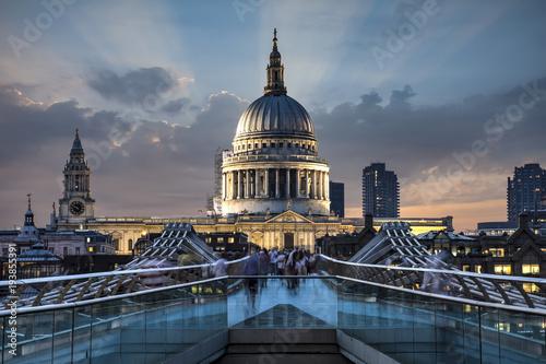 Aluminium Prints London Millennium Bridge