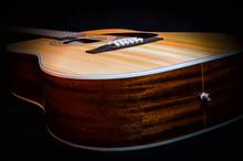 Wooden Acoustic Guitar In Vint...