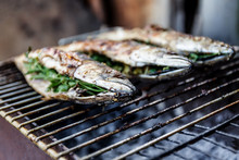 Roasted Carcass Fish Mackerel ...
