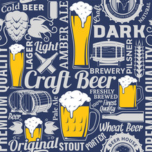 Typographic Vector Beer Seamle...