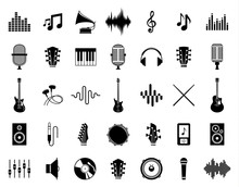 Set Of Vector Music Icons Isol...