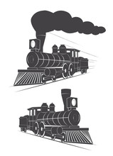 Vintage Logo Steam Locomotive