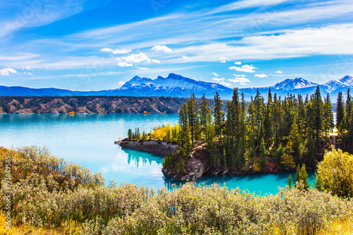 Photo  Abraham Lake in the Rockies