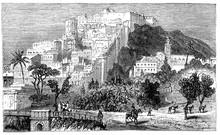 Victorian Engraving Of Algiers, Algeria