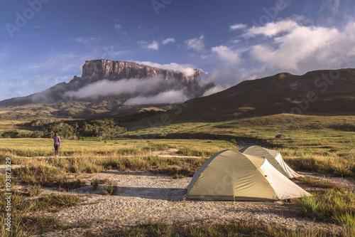 Fotobehang Zuid-Amerika land Mountains Roraima y Kukenan, Venezuela